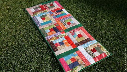 Текстиль, ковры ручной работы. Ярмарка Мастеров - ручная работа. Купить Коврик для скамейки. Handmade. Дачный интерьер, лоскутная техника