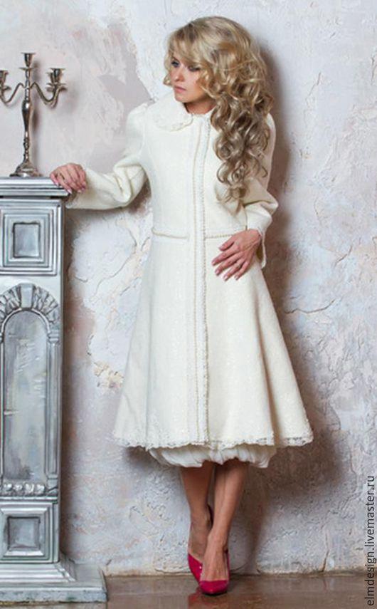 """Верхняя одежда ручной работы. Ярмарка Мастеров - ручная работа. Купить Пальто дизайнерское """"Белая лилия"""". Handmade. Белый"""