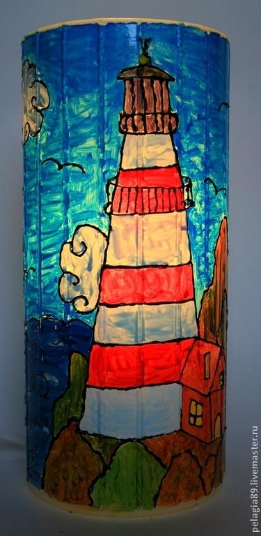 """Освещение ручной работы. Ярмарка Мастеров - ручная работа. Купить Светильник """"Маячок"""". Handmade. Свет, море, дизайн, карта, гостинная"""