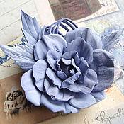 """Украшения ручной работы. Ярмарка Мастеров - ручная работа Брошь из кожи """"Purple dream"""". Handmade."""