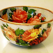 Посуда ручной работы. Ярмарка Мастеров - ручная работа салатник  большой  Как хороши эти розы. Handmade.