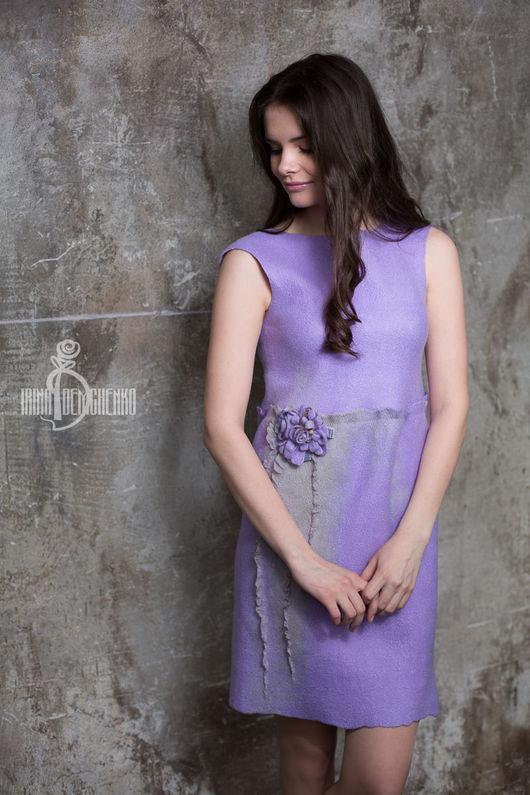 Платья ручной работы. Ярмарка Мастеров - ручная работа. Купить Валяное платье «Вдохнуть аромат весны». Handmade. Бледно-розовый