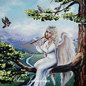"""Картины и панно ручной работы. Ярмарка Мастеров - ручная работа Картина маслом- """"Песнь ангела"""". Handmade."""