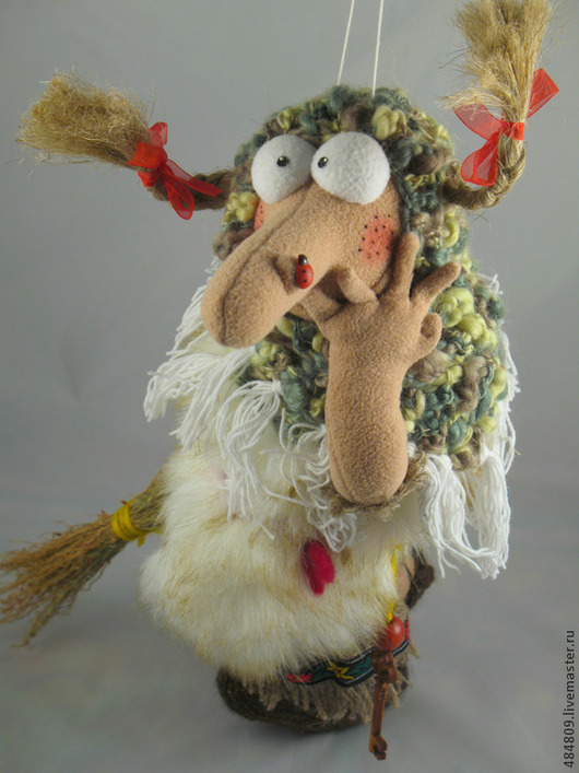 """Сувениры ручной работы. Ярмарка Мастеров - ручная работа. Купить Баба-Яга """"Дурочка деревенская"""". Handmade. Оливковый, герои сказок"""