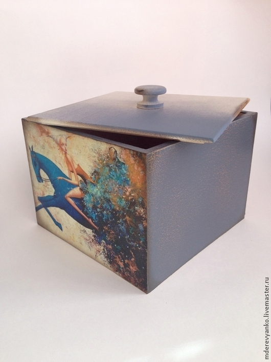 """Кухня ручной работы. Ярмарка Мастеров - ручная работа. Купить Короб """"Blue horse"""". Handmade. Кремовый, короб для хранения"""