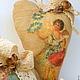 """Подарки для влюбленных ручной работы. Ярмарка Мастеров - ручная работа. Купить Сердечки кофейные """"Ангелочки"""". Handmade. Бежевый, синтепон"""