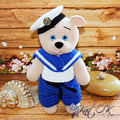 Stuffed Toys handmade. Livemaster - original item Bear-sailor. Handmade.