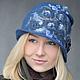 """Шляпы ручной работы. Заказать Шляпка """"Blue River"""". Shellen's HATS. Ярмарка Мастеров. Валяная шляпка, шерстяная шапка, Ультрамарин"""
