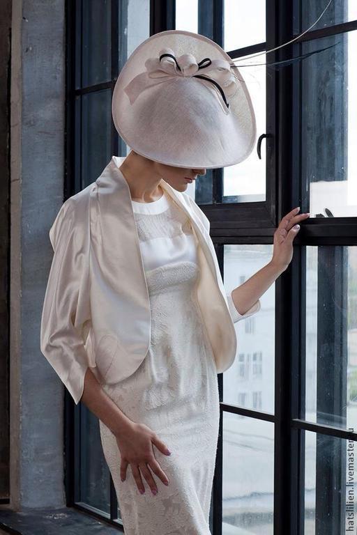 Шляпы ручной работы. Ярмарка Мастеров - ручная работа. Купить Шляпка из коллекции Штрихи к портрету. Handmade. Белый, стильное украшение