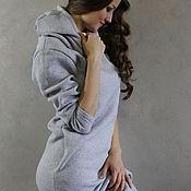 Одежда ручной работы. Ярмарка Мастеров - ручная работа Теплое спортивное платье с начесом. Handmade.