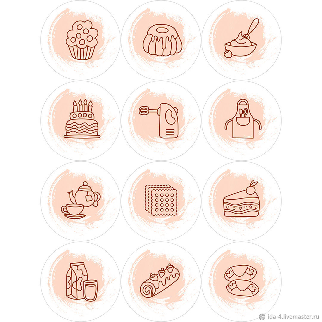 'Baker ' Icons for instagram, Illustrations drawings, Permian,  Фото №1