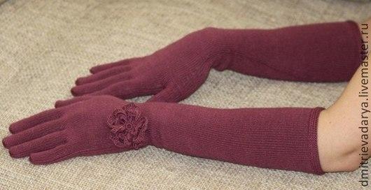 Варежки, митенки, перчатки ручной работы. Ярмарка Мастеров - ручная работа. Купить перчатки. Handmade. Розовый, эластичный, вискоза