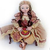 """Куклы и игрушки ручной работы. Ярмарка Мастеров - ручная работа Авторская художественная кукла из полимерной глины """"Дарья"""" (14 см). Handmade."""