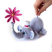 Мягкие игрушки ручной работы. Ярмарка Мастеров - ручная работа Слон игрушка Маленький джентльмен. Handmade.