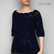 Одежда handmade. Livemaster - original item Womens mohair sweater women`s blue. Handmade.