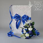 Свадебный салон ручной работы. Ярмарка Мастеров - ручная работа Набор свадебных аксессуаров синий. Handmade.