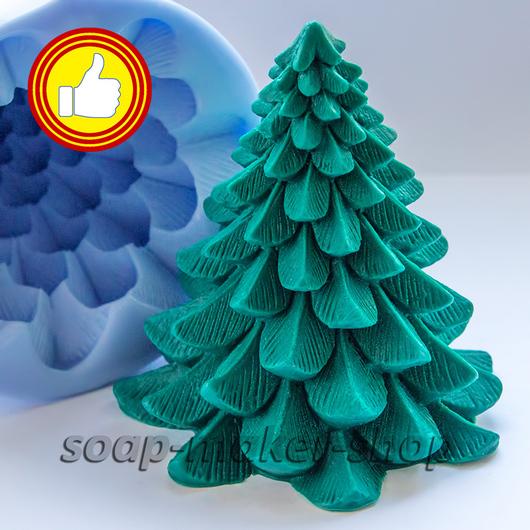 Материалы для косметики ручной работы. Ярмарка Мастеров - ручная работа. Купить Силиконовая форма для мыла «Ёлочка 3D». Handmade.