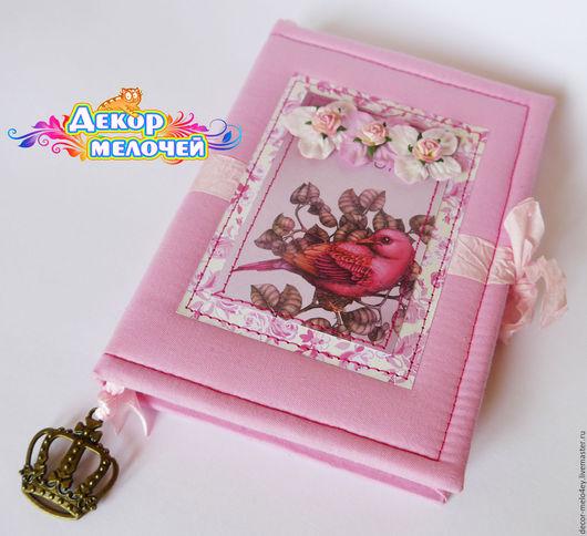 Блокноты ручной работы. Ярмарка Мастеров - ручная работа. Купить Розовый блокнот. Handmade. Розовый, день рождения, переплётный картон