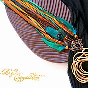 handmade. Livemaster - original item Dark turquoise pendant