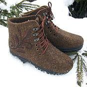 Обувь ручной работы. Ярмарка Мастеров - ручная работа Валяные женские ботиночки. Handmade.
