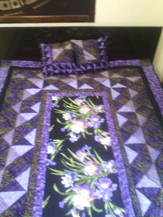 Текстиль, ковры ручной работы. Ярмарка Мастеров - ручная работа. Купить Лоскутное одеяло , покрывало , плед. Handmade. Тёмно-фиолетовый