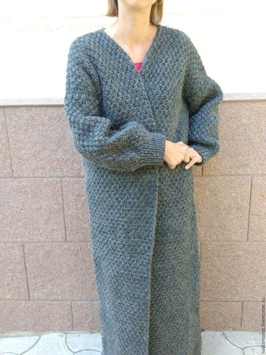 Верхняя одежда ручной работы. Ярмарка Мастеров - ручная работа. Купить Кардиган-пальто из толстой пряжи. Handmade. Пальто