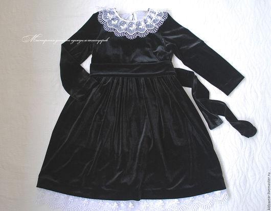 Одежда для девочек, ручной работы. Ярмарка Мастеров - ручная работа. Купить Платье «Соната». Handmade. Черный, платье, Платье нарядное