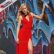 Одежда ручной работы. Ярмарка Мастеров - ручная работа Платье красное без рукава. Handmade.