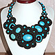 Necklaces & Beads handmade. necklace 'Lady in Black'. Soutache necklaces and accessories. Online shopping on My Livemaster.