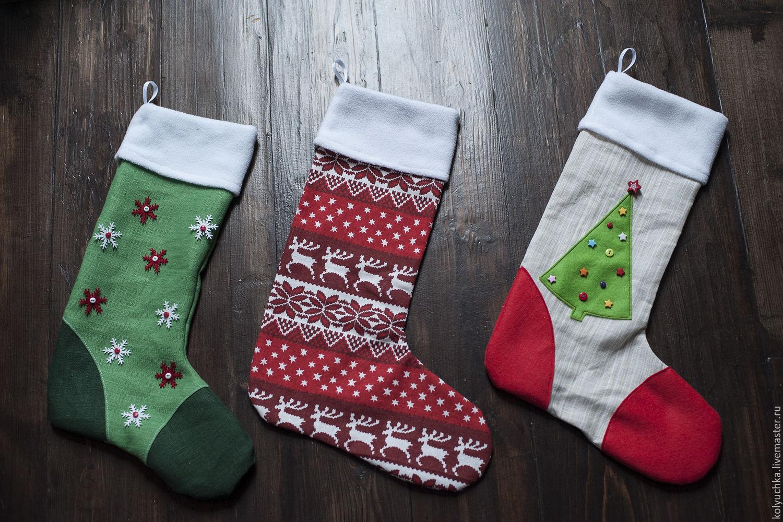 новогодние картинки носков именно его помощью
