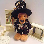Куклы и игрушки ручной работы. Ярмарка Мастеров - ручная работа мишка Безумный шляпник. Handmade.
