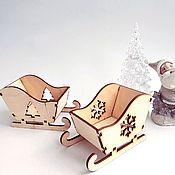 Материалы для творчества handmade. Livemaster - original item New year`s sledge 2 types 11 cm.. Handmade.