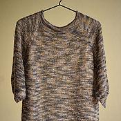 Пуловеры ручной работы. Ярмарка Мастеров - ручная работа Лёгкий вязаный пуловер из мохера Тигровые сны. Handmade.
