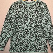 Пуловеры ручной работы. Ярмарка Мастеров - ручная работа Пуловеры: пуловер с цветочным узором. Handmade.