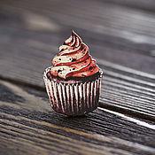 Украшения handmade. Livemaster - original item Wooden icon Cupcake. Handmade.