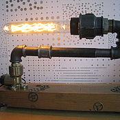Для дома и интерьера ручной работы. Ярмарка Мастеров - ручная работа Лампа в стиле стимпанк «Зигзаг». Handmade.