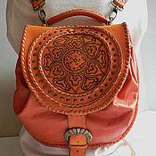 """Рюкзаки ручной работы. Ярмарка Мастеров - ручная работа Рюкзак кожаный женский """"Солнышко"""". Handmade."""