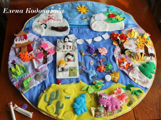 Развивающие игрушки ручной работы. Ярмарка Мастеров - ручная работа. Купить Развивающий коврик «Волшебная страна трёх маленьких фей».. Handmade.