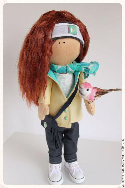 Человечки ручной работы. Ярмарка Мастеров - ручная работа. Купить Текстильная кукла Ginger. Handmade. Кукла, подарок женщине