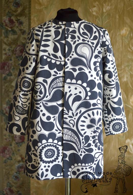 Одежда для девочек, ручной работы. Ярмарка Мастеров - ручная работа. Купить Пальто летнее для девочки хлопковое Черно-белое кино. Handmade.