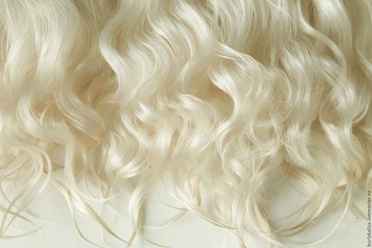Куклы и игрушки ручной работы. Ярмарка Мастеров - ручная работа. Купить 48. Волосы для кукол. Handmade. Бежевый, волосы