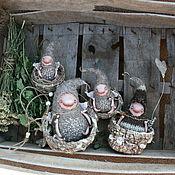 Куклы и игрушки ручной работы. Ярмарка Мастеров - ручная работа Гномыши в гнезде. Handmade.