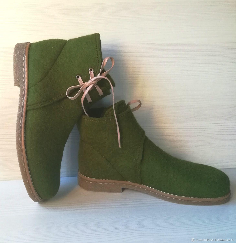ed30937a7d761 Обувь ручной работы. Ярмарка Мастеров - ручная работа. Купить Ботинки  валяные демисезонные.