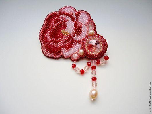 """Броши ручной работы. Ярмарка Мастеров - ручная работа. Купить Брошь """"Викторианская роза"""". Handmade. Розовый, роза, металлическая фурнитура"""