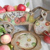 """Для дома и интерьера ручной работы. Ярмарка Мастеров - ручная работа набор для кухни """"Яблочко наливное"""". Handmade."""
