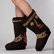 """Обувь ручной работы. Ярмарка Мастеров - ручная работа Валенки """"Lora Pavlova"""" """"По мотивам Клее """"Черный принц"""". Handmade."""