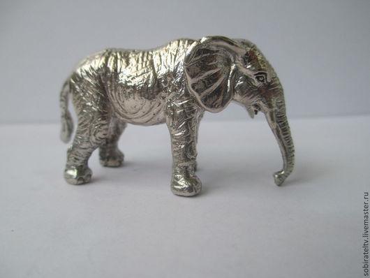 """Статуэтки ручной работы. Ярмарка Мастеров - ручная работа. Купить Серебряная миниатюра """"Слон"""". Handmade. Слон, фигурки животных"""