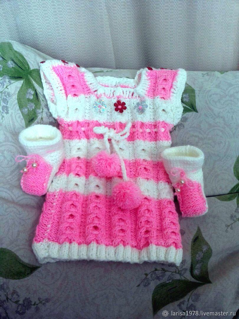 Платье вязаное для девочки Веселое настроение