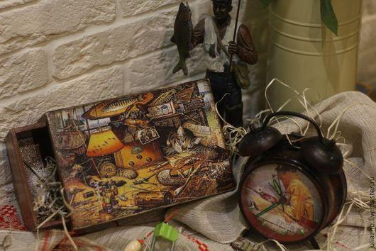 """Подарки для мужчин, ручной работы. Ярмарка Мастеров - ручная работа. Купить """"Gone fishing"""",  рыбацкий подарочный набор. Handmade. Рыбалка"""