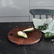 Посуда handmade. Livemaster - original item Wooden Board made of Siberian cedar wood RD5. Handmade.